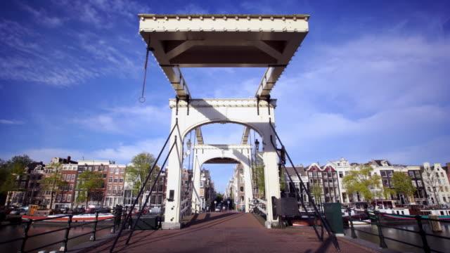amsterdam drawbridge - drawbridge stock videos and b-roll footage