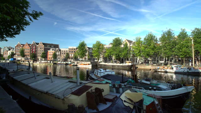amsterdam harbor - passenger craft stock videos & royalty-free footage