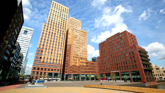 Amsterdam modern office buildings, Time Lapse