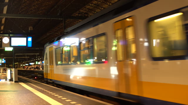 amsterdam railway station - commercial land vehicle stock videos & royalty-free footage