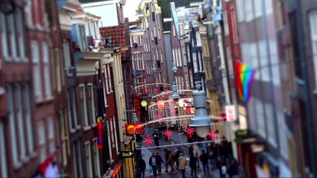 amsterdam street hyperlapse - amsterdam video stock e b–roll