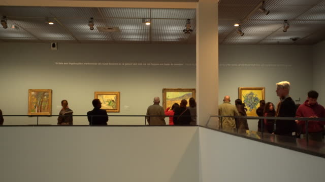 amsterdam van gogh museum - museum stock videos & royalty-free footage