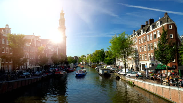 amsterdam westerkerk - amsterdam stock videos & royalty-free footage