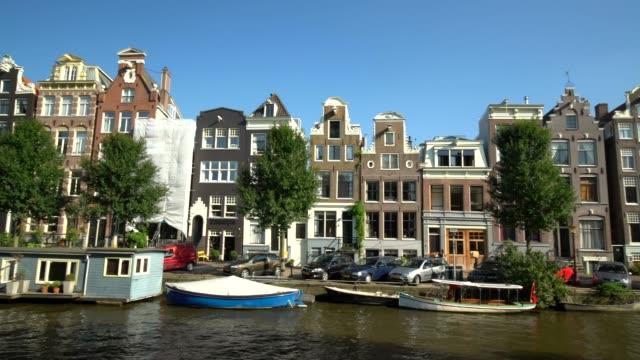 アムステルダム運河とパン - 環状運河地区点の映像素材/bロール