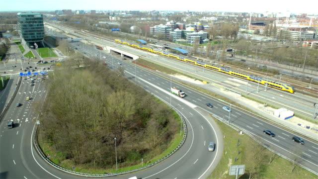 Amsterdam Zuid highway traffic