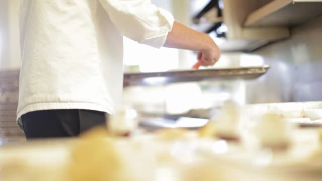 amuse bouche - chef preparing food for a wine tasting and pairing - french food wine stock videos & royalty-free footage