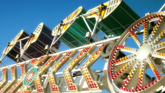 amusement park ride - agricultural fair stock videos and b-roll footage