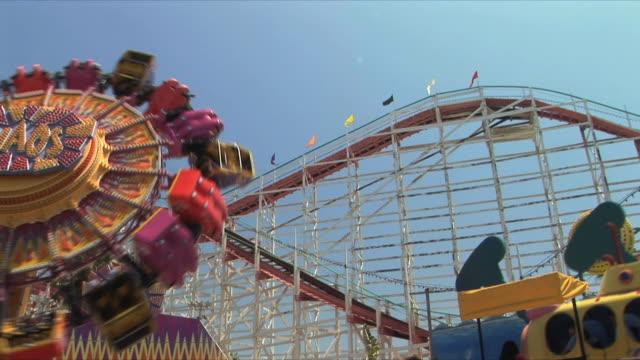 la ms amusement park rides, belmont park, san diego, california, usa - san diego stock videos and b-roll footage