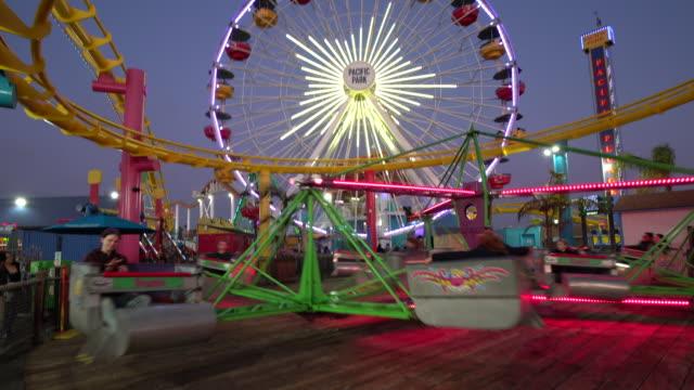 amusement park rides - big wheel stock videos & royalty-free footage