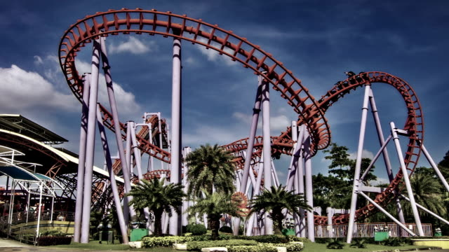 amusement park - rollercoaster stock videos & royalty-free footage