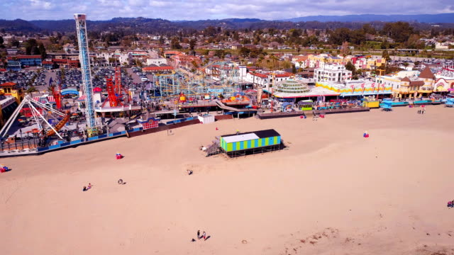 amusement park - santa cruz california stock videos and b-roll footage