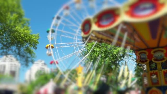 amusement park - amusement park stock videos & royalty-free footage