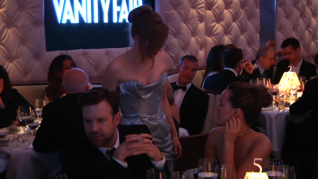 amy adam and olivia wilde at the 2012 vanity fair oscar party hosted by graydon carter inside party at west hollywood ca - amy carter stock videos & royalty-free footage