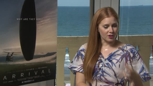 Amy Adams about being again at the Venice Film Festival and her expectations on this years edition Also she speaks about what kind of movie Arrival...