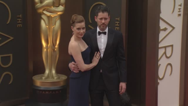 amy adams and darren le gallo - 86th annual academy awards - arrivals at hollywood & highland center on march 02, 2014 in hollywood, california. - hollywood and highland center stock videos & royalty-free footage