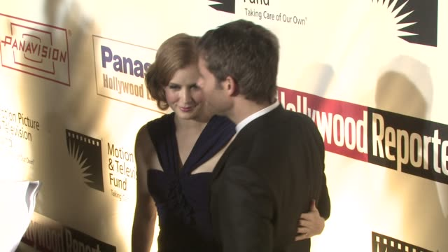 amy adams and james marsden at the 'a fine romance' to benefit the motion picture television fund at los angeles ca - motion picture & television fund stock videos & royalty-free footage