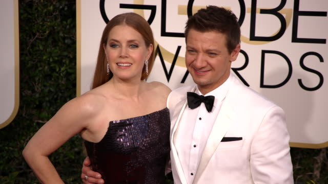 Amy Adams and Jeremy Renner at the 74th Annual Golden Globe Awards Arrivals at The Beverly Hilton Hotel on January 08 2017 in Beverly Hills...