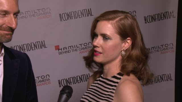 Amy Adams and Michael Wilkinson on wardrobe at the 7th Annual Hamilton Behind The Camera Awards in Los Angeles CA on 11/10/13
