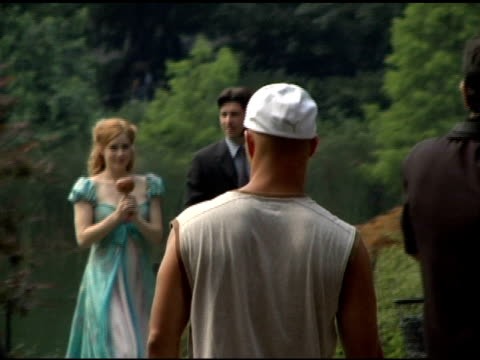 Amy Adams and Patrick Dempsey at the Set of 'Enchanted' at Central Park in New York New York on July 10 2006