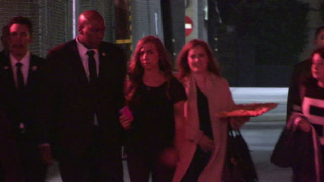 amy adams arrives at jimmy kimmel in hollywood celebrity sightings on january 7th 2014 in los angeles california - jimmy kimmel stock videos and b-roll footage