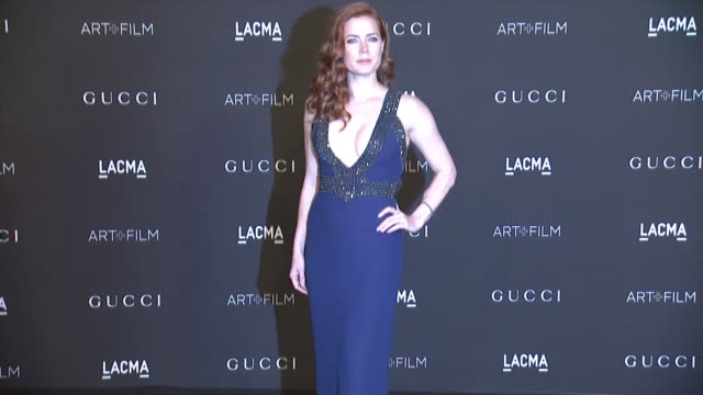 Amy Adams at 2014 LACMA ArtFilm Gala Honoring Barbara Kruger And Quentin Tarantino Presented By Gucci in Los Angeles CA
