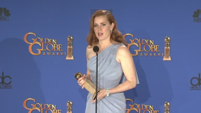 SPEECH Amy Adams at 72nd Annual Golden Globe Awards Press Room at The Beverly Hilton Hotel on January 11 2015 in Beverly Hills California