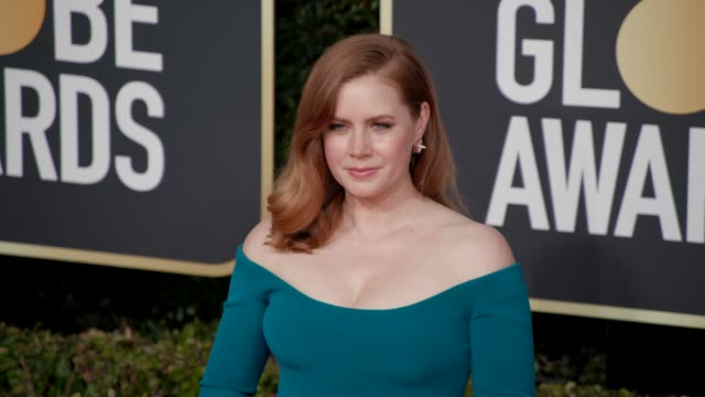 amy adams at 76th annual golden globe awards arrivals in los angeles ca 1/6/19 4k footage - golden globe awards stock videos & royalty-free footage