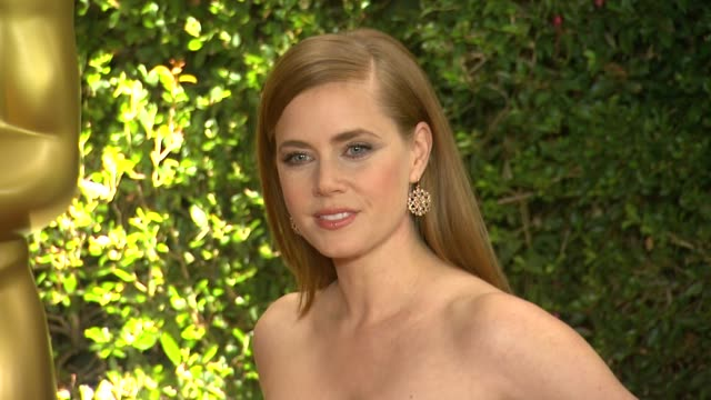 amy adams at academy of motion picture arts and sciences' governors awards in hollywood ca on - 映画芸術科学協会点の映像素材/bロール