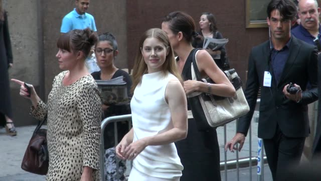 Amy Adams at Spring 2013 MercedesBenz Fashion Week at Lincoln Center in New York NY on 09/13/12