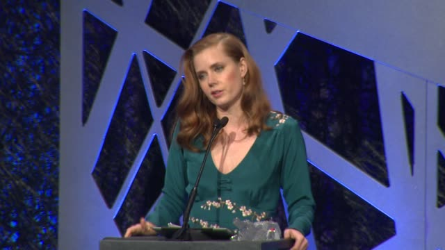 SPEECH Amy Adams at The 16th Costume Designers Guild Awards at The Beverly Hilton Hotel on February 22 2014 in Beverly Hills California