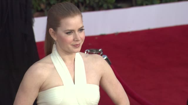 amy adams at the 17th annual screen actors guild awards arrivals part 2 at los angeles ca - 映画俳優組合点の映像素材/bロール
