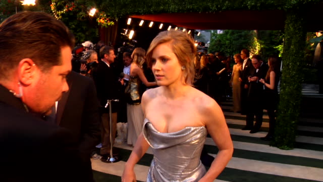 amy adams at the 2012 vanity fair oscar party hosted by graydon carter inside party at west hollywood ca - amy carter stock videos & royalty-free footage