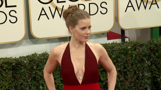 Amy Adams at the 71st Annual Golden Globe Awards Arrivals at The Beverly Hilton Hotel on in Beverly Hills California