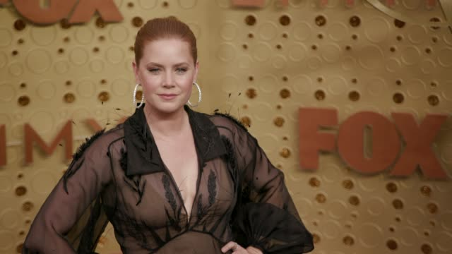 amy adams at the 71st emmy awards - arrivals at microsoft theater on september 22, 2019 in los angeles, california. - emmy awards stock videos & royalty-free footage