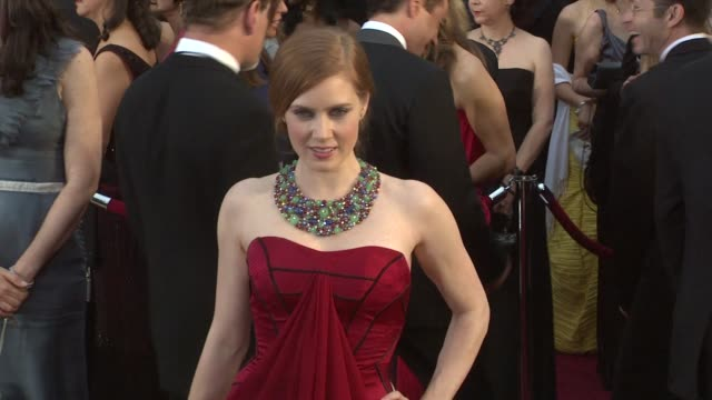 amy adams at the 81st academy awards arrivals part 3 at los angeles ca. - 2009 stock videos & royalty-free footage