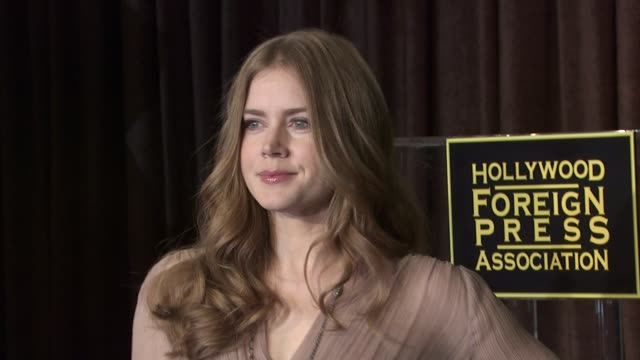 amy adams at the hollywood foreign press association's cecil b demille award recipient announcement at beverly hills ca - cecil b. demille stock videos & royalty-free footage