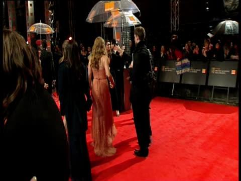 amy adams at the orange british academy film awards 2011 at london england. - ブランド名点の映像素材/bロール