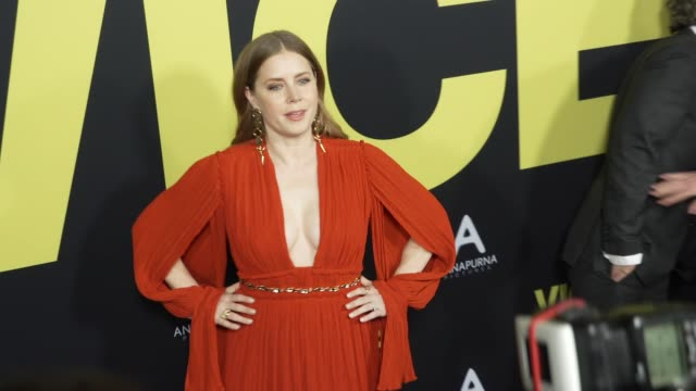 stockvideo's en b-roll-footage met amy adams at the vice world premiere at samuel goldwyn theater on december 11 2018 in beverly hills california - première