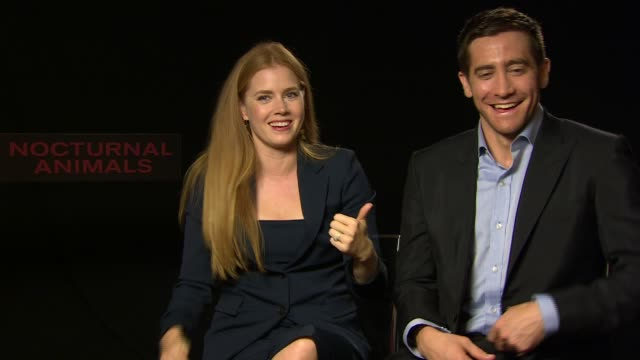 INTERVIEW Amy Adams Jake Gyllenhaal joking about them being bad together for the Junket interviews at 'Nocturnal Animals Animals' Interviews at...