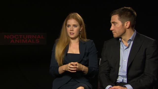 INTERVIEW Amy Adams Jake Gyllenhaal struggling to maintain their identity playing a character who looses her identity at 'Nocturnal Animals Animals'...