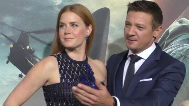 Amy Adams Jeremy Renner at the Arrival LA Premiere on November 06 2016 in Westwood California
