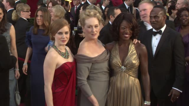Amy Adams Meryl Streep and Viola Davis at the 81st Academy Awards Arrivals Part 3 at Los Angeles CA
