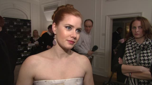 Amy Adams on acting alongside Meryl Streep on being in her next film again on the nominations she's received on what she'd going next and what she's...