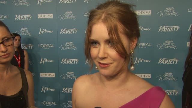 Amy Adams on being here and on her charity the Ghetto Film School at the Variety's 2nd Annual Power Of Women Luncheon at Beverly Hills CA