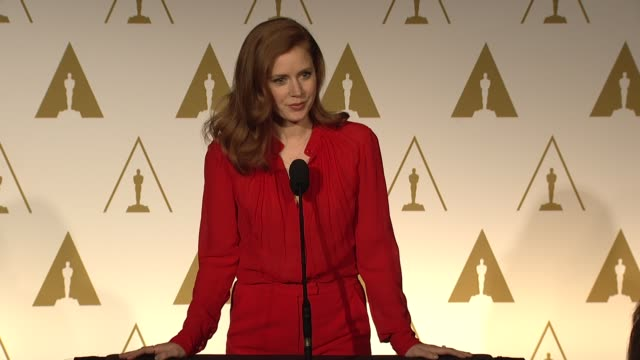 INTERVIEW Amy Adams on what dress she is going to wear her character working with the Director at the 86th Academy Awards Nominee Luncheon Reception...