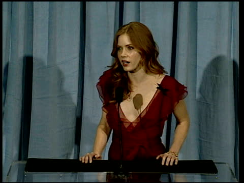 Amy Adams on what she's wearing at the 2006 Annual Academy Awards Nominees Luncheon at the Beverly Hilton in Beverly Hills California on February 13...