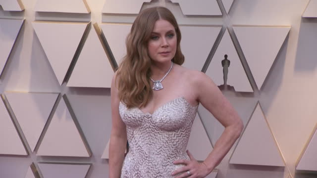 amy adams walking the red carpet at the 91st annual academy awards at the dolby theater in los angeles, california. - music or celebrities or fashion or film industry or film premiere or youth culture or novelty item or vacations 個影片檔及 b 捲影像