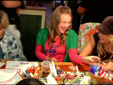 amy bruckner coloring peppers at the chili's create a pepper to benefit st jude children's research hospital at chili's restaurant in westwood... - chili's grill & bar stock videos and b-roll footage