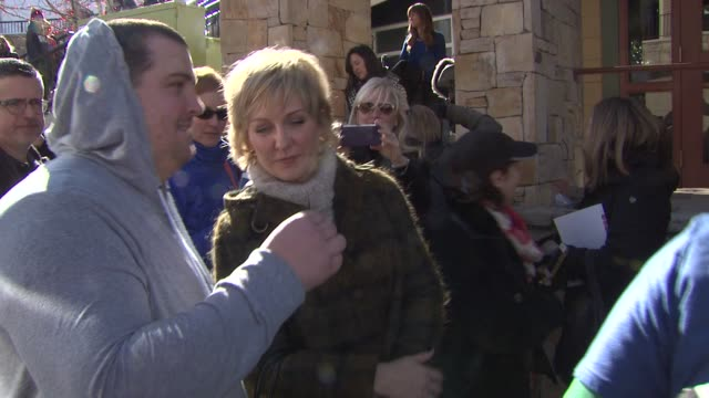 amy carlson at sundance film festival 2014 on in park city utah - park city utah video stock e b–roll