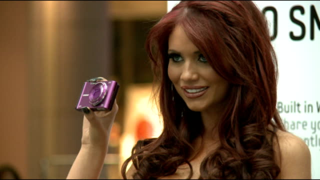 Amy Childs is the face of the new Samsung SMART camera ****FLASH London INT The Only Way is Essex star Amy Childs arriving for launch of new Samsung...
